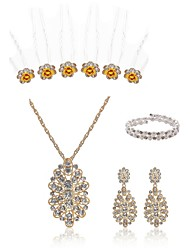 abordables -Femme Piques à cheveux Nuptiales Parures Strass Imitation de perle Imitation Diamant Alliage Mode Européen Mariage Soirée Bijoux de Corps