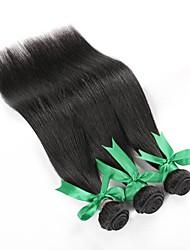 preiswerte -Brasilianisches Haar Gerade Menschliches Haar Webarten 3 Stück 0.15