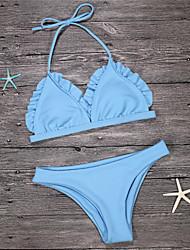 abordables -Femme Licou Bikinis Couleur Pleine