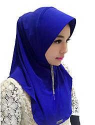 Недорогие -Мода Головные уборы хиджаб Абайя Кофейный Коричневый Красный Синий Розовый Шелк Косплэй аксессуары