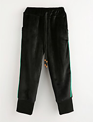 cheap -Girls' Solid Pants Winter Black