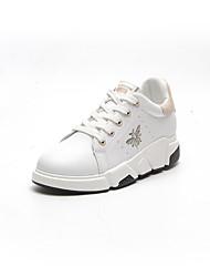 economico -Da donna Scarpe PU (Poliuretano) Autunno Comoda Sneakers Piatto Punta tonda per Casual Nero Beige Rosa