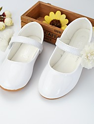 cheap -Girls' Shoes Leatherette Spring Summer Flower Girl Shoes Comfort Flats Walking Shoes Beading Appliques Magic Tape for Wedding Party &