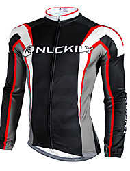 cheap -Nuckily Cycling Jacket Men's Long Sleeves Bike Jersey Top Winter Fleece Bike Wear Waterproof Thermal / Warm Windproof Rain-Proof