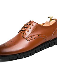 cheap -Men's Shoes Leather Fall / Winter Comfort / Formal Shoes Oxfords Black / Brown / Party & Evening / Dress Shoes