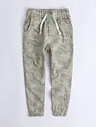 economico -Pantaloni Da ragazzo Mimetico Primavera Arcobaleno Verde militare