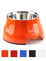 cheap -L Cat Dog Outfits Feeders Pet Bowls & Feeding Durable Ergonomic Design Case Included White Black Orange Red Blue