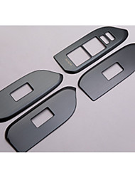 cheap -Automotive Window Lifter Switch Covers DIY Car Interiors For Toyota All years LAND CRUISER PRADO Metal