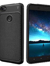 abordables -Coque Pour Xiaomi Note Redmi 5A Antichoc Dépoli Coque Intégrale Couleur unie Flexible TPU pour Redmi Note 5A