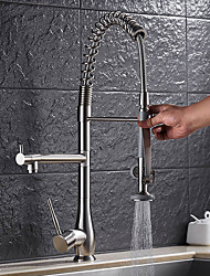 cheap -Kitchen faucet - Contemporary Nickel Brushed Pull-out / Pull-down Vessel
