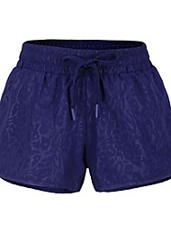 abordables -Femme Shorts de Course Séchage rapide, Respirabilité Pantalon / Surpantalon Course / Running Polyester, Spandex Bleu de minuit / Bleu S /