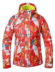 cheap -Women's Ski Jacket Warm Waterproof Windproof Skiing Camping / Hiking Ski / Snowboard Back Country Polyester
