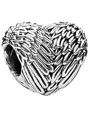 baratos -Jóias DIY 1 pçs Contas Liga Prata Coração Bead 0.5 cm faça você mesmo Colar Pulseiras