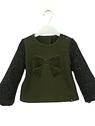 cheap -Girls' Solid Polka Dot Hoodie & Sweatshirt, Cotton Spring Fall Long Sleeves Simple Cute Army Green