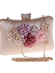 cheap -Women's Bags Polyester Evening Bag Flower Black / Red / Almond