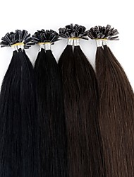 cheap -Fusion / U Tip Human Hair Extensions Straight Remy Human Hair Brazilian Hair 1pack Women's Wedding / Party / Special Occasion