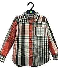 economico -Bambino (1-4 anni) Da ragazzo Semplice A strisce Manica lunga Cotone Camicia