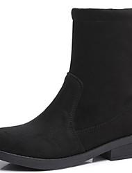 baratos -Mulheres Sapatos Pêlo Outono / Inverno Botas da Moda / Coturnos Botas Salto Robusto Botas Cano Médio Preto / Festas & Noite