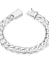 abordables -Femme Plaqué argent Adorable Chaînes & Bracelets - Doux Irrégulier Argent Bracelet Pour Cadeau Soirée