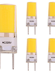 preiswerte -5 Stück 3W 260lm LED Doppel-Pin Leuchten 1 LED-Perlen COB LED-Lampe Warmes Weiß 220-240V