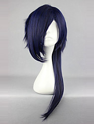 abordables -Perruques de Cosplay Doux Bleu Encre Princesse Perruque Lolita  65 CM Perruques de Cosplay Couleur Pleine Perruque Pour