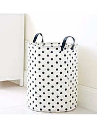 cheap -Nylon fiber Natural Fiber Round Multifunction Home Organization, 1pc Laundry Bag & Basket