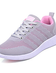 cheap -Women's Shoes Tulle Spring / Fall Comfort Athletic Shoes Low Heel Round Toe Black / Dark Grey / Pink