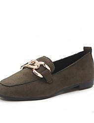 abordables -Mujer Zapatos PU Verano Confort Suelas con luz Sandalias Tacón Plano Puntera abierta Lentejuela para Casual Vestido Negro Verde Rosa
