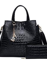 preiswerte -Damen Taschen PU Polyester Bag Set 2 Stück Geldbörse Set Reißverschluss für Normal Ganzjährig Blau Schwarz Rote Beige