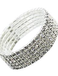 billige -Dame Armbånd - Simuleret diamant Mode Armbånd Sølv Til Daglig
