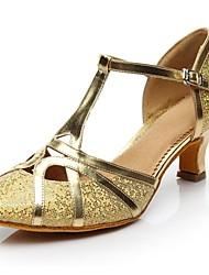 cheap -Women's Modern Shoes Sparkling Glitter Heel Customized Heel Customizable Dance Shoes Gold / Silver / Indoor