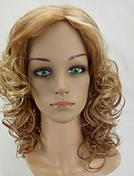 cheap -Synthetic Wig Curly Middle Part Highlighted/Balayage Hair Blonde Capless Natural Wigs Long Synthetic Hair