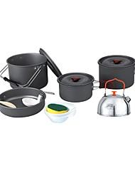 abordables -Casserole de Camping Ustensiles de Cuisine en Extérieur Vestimentaire Métallique / Acier inoxydable Extérieur pour Camping Noir