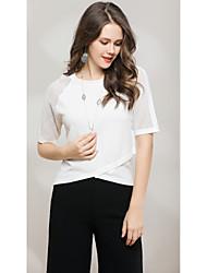 preiswerte -Damen Ausgehen Niedlich Street Schick Kurzarm Pullover - Solide, Spitze Gitter