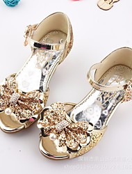 cheap -Girls' Shoes Sparkling Glitter Summer Flower Girl Shoes Comfort Sandals for Casual Gold Silver Blue Pink
