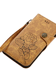 cheap -Case For Motorola G5 Plus E4 Plus Card Holder Wallet with Stand Flip Magnetic Pattern Full Body Flower Hard PU Leather for MOTO G4 Moto