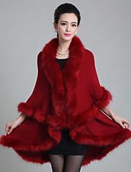 economico -Cloak / Capes Per donna Tinta unita, A V Cotone