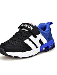 baratos -Para Meninos sapatos Couro Ecológico Tule Primavera Outono Solados com Luzes Conforto Tênis Corrida para Atlético Ao ar livre Preto Azul