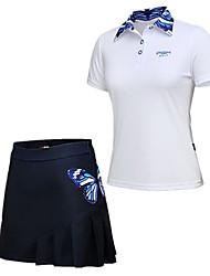 abordables -Femme Golf Ensemble de Vêtements Séchage rapide Pare-vent Vestimentaire Respirabilité Golf Activités Extérieures