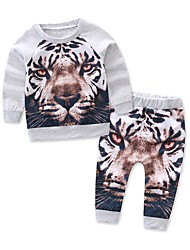 cheap -Baby Boys' Daily Geometric Clothing Set, Cotton Spring Sports & Outdoors Long Sleeves White