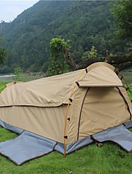 baratos -Deerke 2 Pessoas Barraca Túnel Único Barraca de acampamento Ao ar livre Tenda Dobrada Á Prova-de-Chuva / A Prova de Vento / retenção de