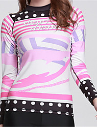 cheap -SBART Women's Diving Rash Guard Fast Dry Wearable Breathability Polyester Chinlon Lycra Long Sleeves Top Diving Beach Surfing Stand-Up