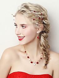 Недорогие -Жен. Комплект ювелирных изделий - Цветы Включают Темно-красный Назначение Свадьба / Для вечеринок