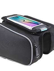 abordables -ROSWHEEL Bolsa para Bicicleta Bolso del teléfono celular Bolsa para Cuadro de Bici Banda reflectante Resistente a la lluvia Fácil de