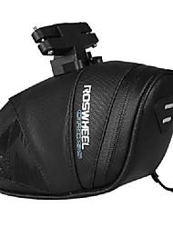 preiswerte -ROSWHEEL Fahrradtasche 0.8LFahrrad-Sattel-Beutel Rutschfest Regendicht tragbar Tasche für das Rad Leder Nylon Fahrradtasche Radsport
