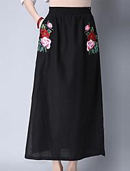 cheap -Women's Cotton Pencil Skirts Print