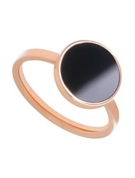 cheap -Women's Stainless Steel / Zircon Band Ring / With Gift Box - Metallic / Casual / Fashion Rose Gold Ring For Daily