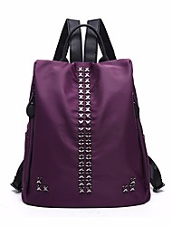 cheap -Women's Bags Nylon Backpack Beading for Casual All Seasons Black Dark Blue Purple