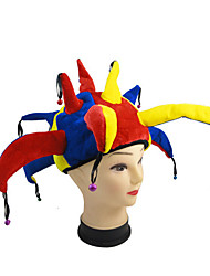 cheap -Burlesque Clown Circus Hats Yellow Bonded Cosplay Accessories Christmas Halloween
