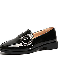 Недорогие -Жен. Обувь Полиуретан Зима Удобная обувь Мокасины и Свитер Высокий каблук Круглый носок для Повседневные Для праздника Белый Черный